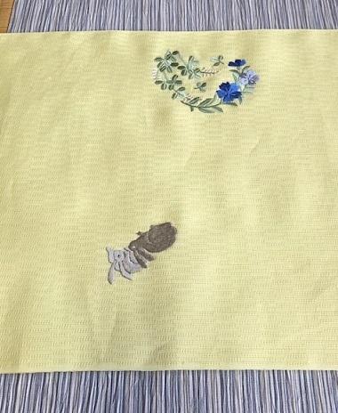 ビアガーデン・竺仙浴衣に蛍帯・刺繍麻帯前太鼓コーデ。_f0181251_13482216.jpg