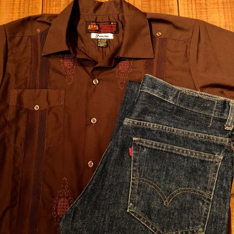 "1977 "" Levi\'s \"" - RED tab - 517 ‐ 0217 VINTAGE DENIM 5POCKET JEANS ._d0172088_21350402.jpg"