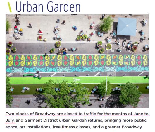 NYのブロードウェイに「都市ガーデン」(Urban Garden)登場!_b0007805_21383044.jpg