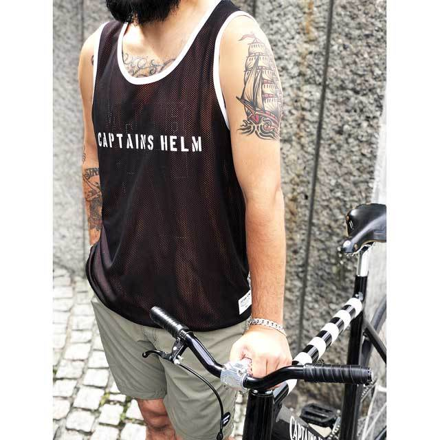 CAPTAINS HELM / キャプテンズヘルム #REVERSIBLE MESH TANK TOP_c0140709_18465923.jpg