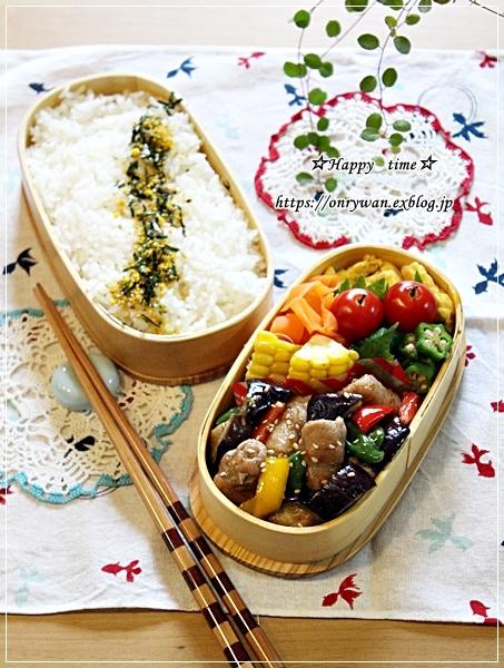 豚肉と夏野菜の生姜焼き弁当♪_f0348032_18565767.jpg