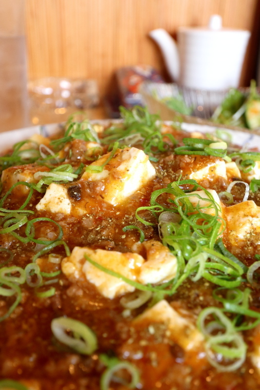 食菜 だんちゅうで、有馬山椒の麻婆豆腐丼を食べる_a0077663_20574183.jpg