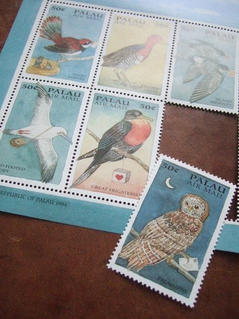 鳥と手紙の切手_a0306166_01581385.jpg