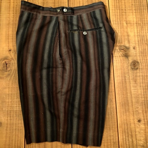 "1950-60s "" UNKNOWN \"" COTTON & RAYON - OMBRE STRIPE - VINTAGE SHORTS ._d0172088_22120268.jpg"