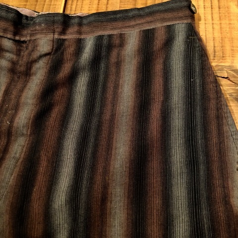 "1950-60s "" UNKNOWN \"" COTTON & RAYON - OMBRE STRIPE - VINTAGE SHORTS ._d0172088_22130547.jpg"