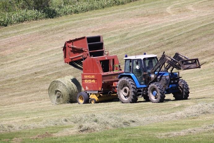牧草ロールのある風景 7月14日_f0113639_16152770.jpg