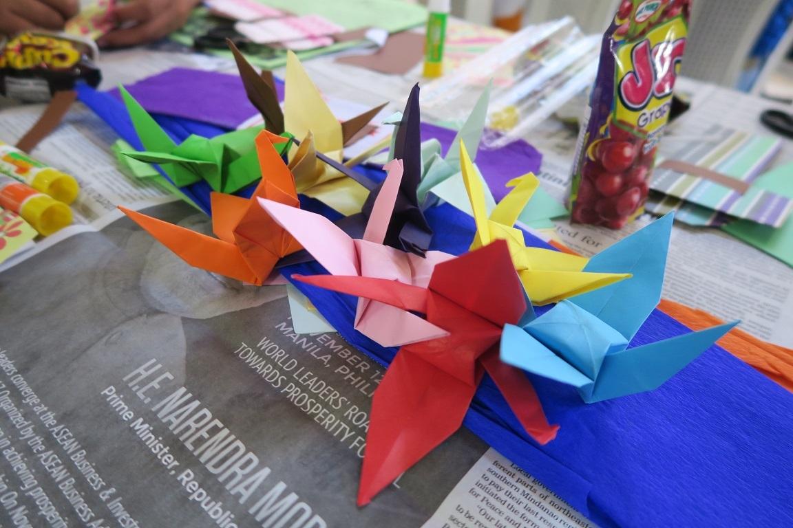七夕飾りづくり & 長崎・大浦天主堂紙模型づくり ワークショップ Tanabata & Nagasaki Oura Church paper craft workshop_a0109542_12202776.jpg