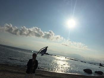 三つ編み族の夏の海_c0113755_17051226.jpg
