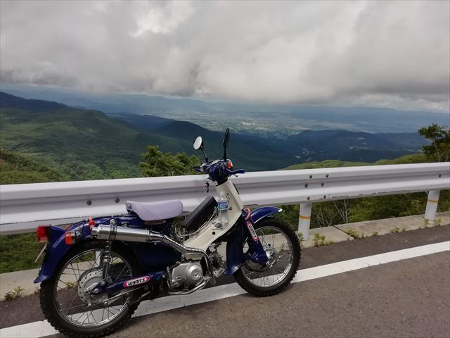 山カブ 林道とスカイラインで走行チェック_b0080681_20365005.jpg