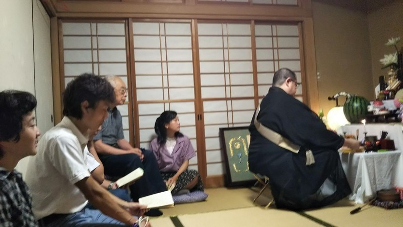 7月14日〔日〕お盆の棚経_d0278912_00545161.jpg