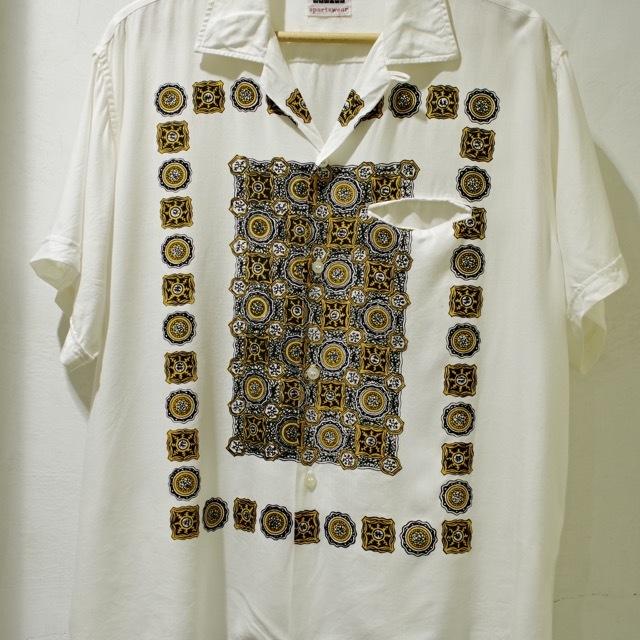 1960s Print Rayon Shirt_d0257333_19172544.jpg