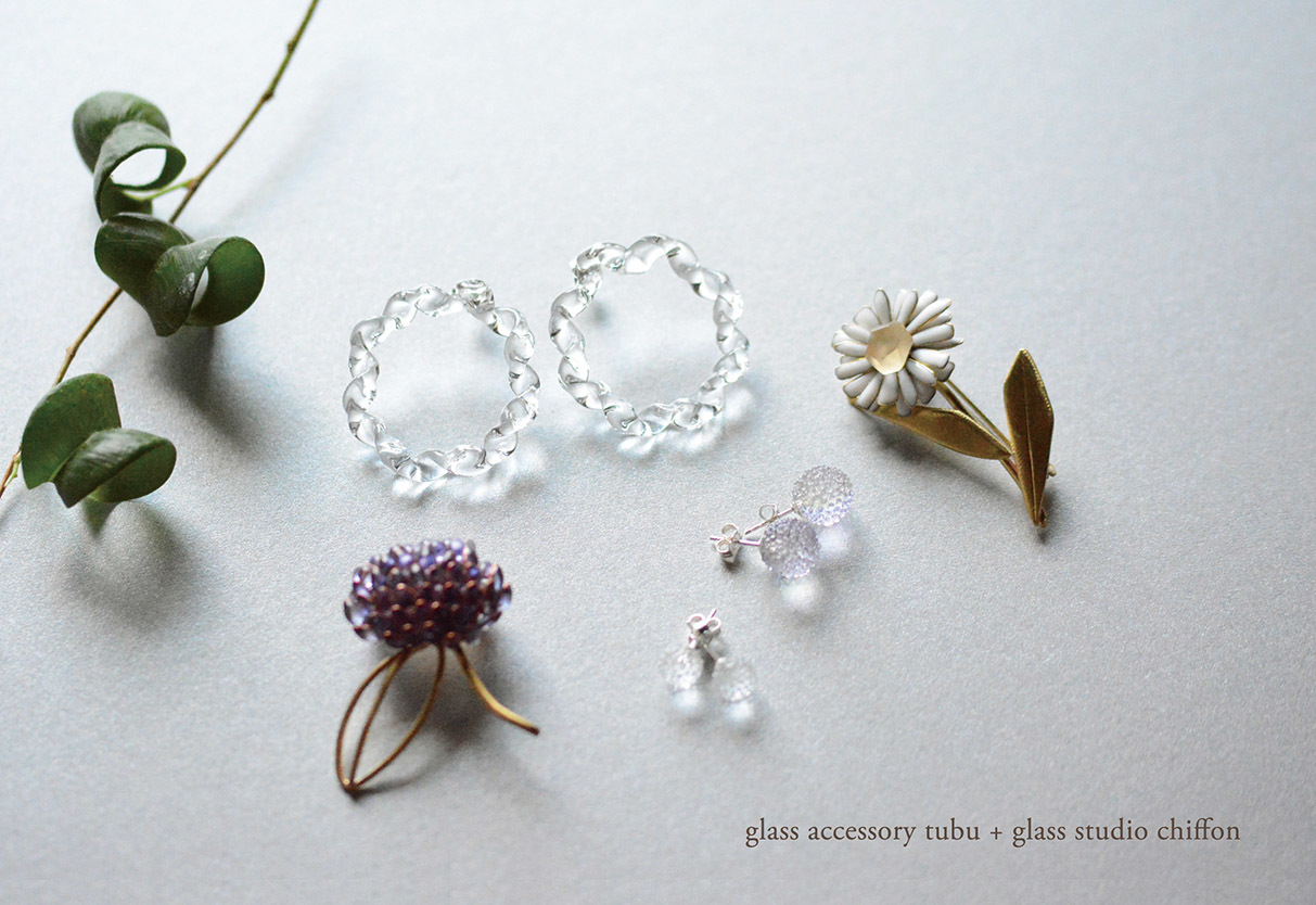 「glass accessory tubu + glass studio chiffon ガラスアクセサリー展」_f0220272_11111611.jpg