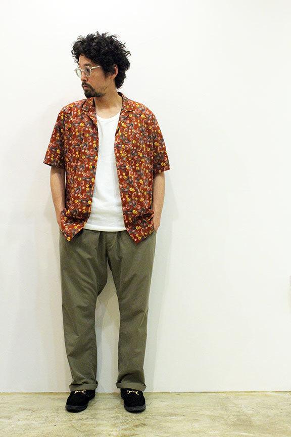 "COOCHUCAMP (クーチューキャンプ) \"" Happy Open Collard Shirts \""_b0122806_12273311.jpg"