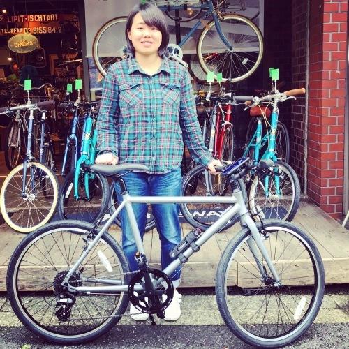☆本日のバイシクルガール☆ 自転車女子 自転車ガール ミニベロ クロスバイク ライトウェイ トーキョーバイク シュウイン ラレー ブルーノ おしゃれ自転車 マリン ターン シェファード_b0212032_16121401.jpeg