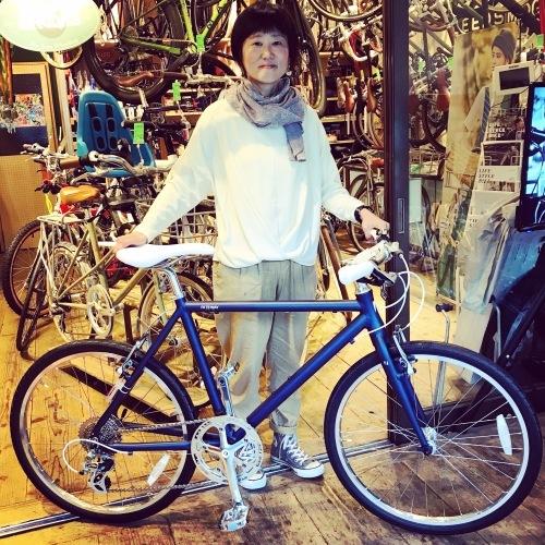 ☆本日のバイシクルガール☆ 自転車女子 自転車ガール ミニベロ クロスバイク ライトウェイ トーキョーバイク シュウイン ラレー ブルーノ おしゃれ自転車 マリン ターン シェファード_b0212032_16122483.jpeg