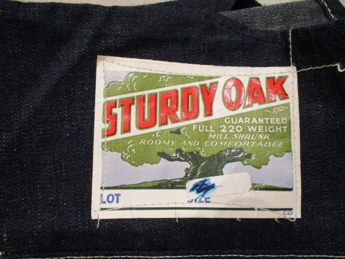 30\'s DEAD STOCK OVERALLS NOS STURDY OAK STRONG RELIABLE_e0187362_17473860.jpg