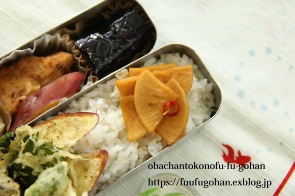 天ぷら和風弁当&今日の御出勤ごぱんセット_c0326245_10535569.jpg