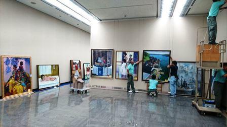 作業日誌(第105回光風会 金沢展作品搬入展示作業)_c0251346_15434195.jpg