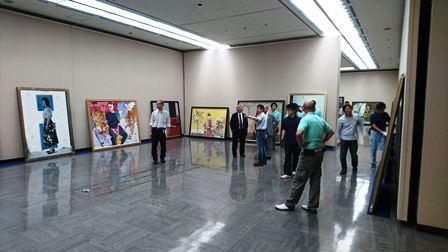 作業日誌(第105回光風会 金沢展作品搬入展示作業)_c0251346_15435960.jpg