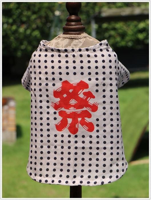 夏祭りの季節到来、お友達ワン君、次郎くんのお祭り法被、今回はサイズちょうど良かったって、一安心💛💛💛、_b0175688_20040750.jpg