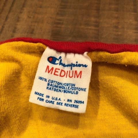 "1980s \"" CHAMPION - trico tag - \"" 100% cotton - REVERSIBLE - VINTAGE VARSITY Tee SHIRTS ._d0172088_22023916.jpg"