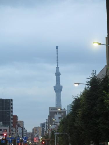 カンデオホテルズ上野公園客室からの東京スカイツリー_c0075701_20425102.jpg