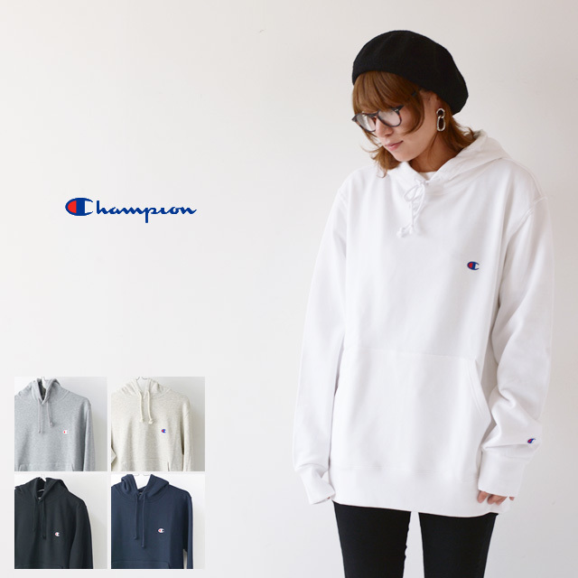 CHAMPION チャンピオン パーカー PULLOVER HOODED SWEATSHIRT ONE POINT [C3-C118] プルオーバー フーデッド /LADY\'S_f0051306_17153023.jpg