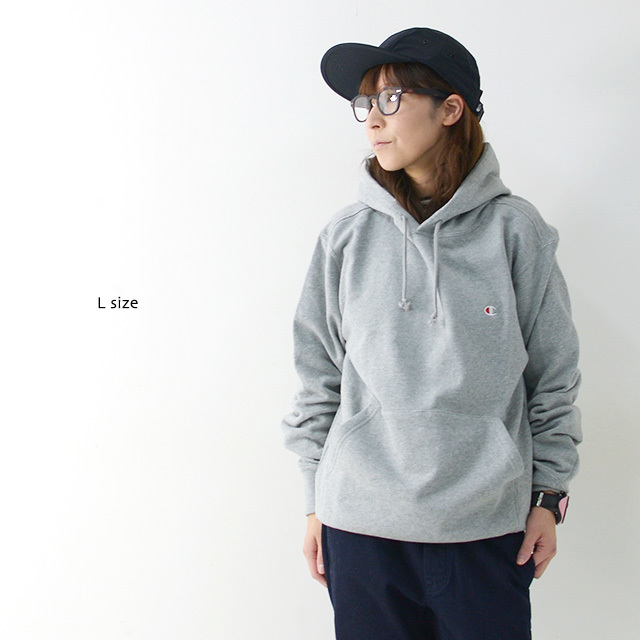 CHAMPION チャンピオン パーカー PULLOVER HOODED SWEATSHIRT ONE POINT [C3-C118] プルオーバー フーデッド /LADY\'S_f0051306_17153046.jpg