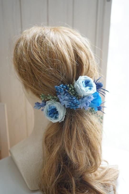 ブルーのバラのクラッチブーケ!_a0136507_21413023.jpg