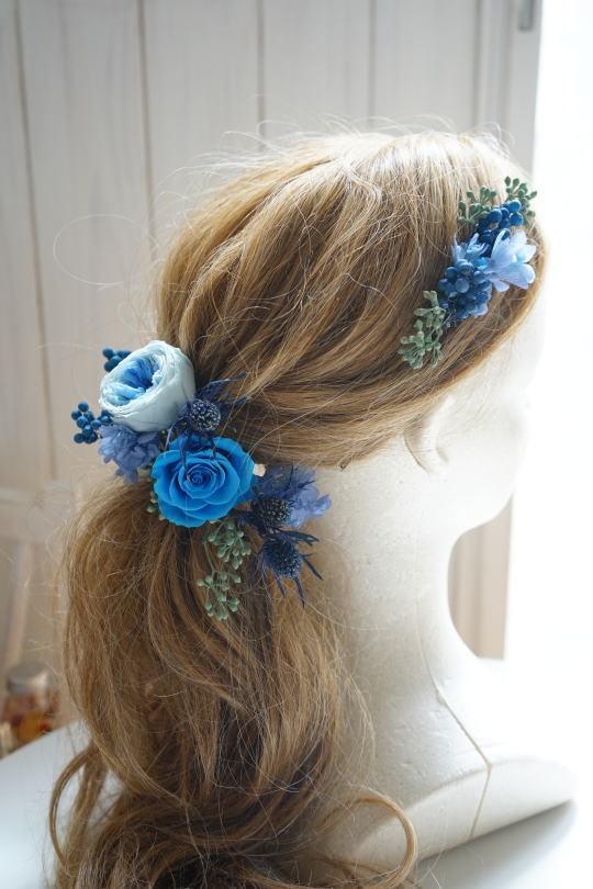 ブルーのバラのクラッチブーケ!_a0136507_21415629.jpg