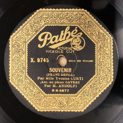 女流ヴァイオリン奏者、イヴォンヌ・クルティのSP盤が入荷_a0047010_10552534.jpg