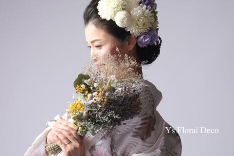 白地の打掛に 白ベースに薄紫の挿し色のヘッドドレス_b0113510_08495629.jpg