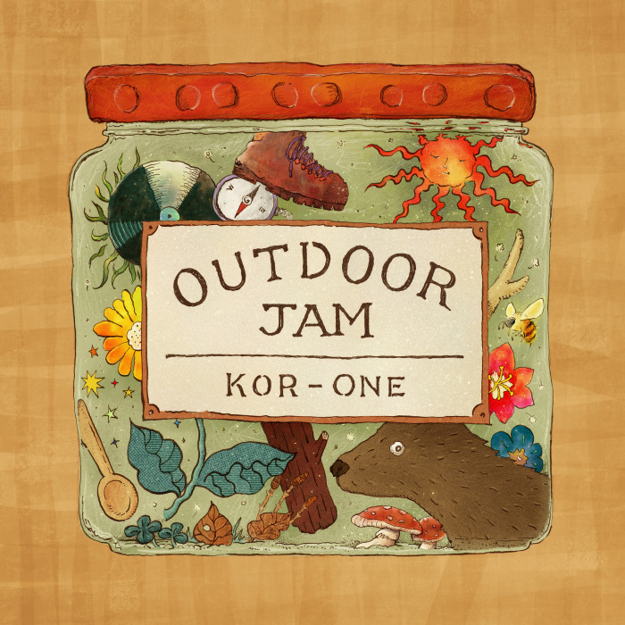 """Outdoor Jam"" Mixed by KOR-ONE   (コルクコースター、トラックリスト付)8月7日発売  TempleATS STOREにて予約開始しています。_d0158942_13203201.jpg"