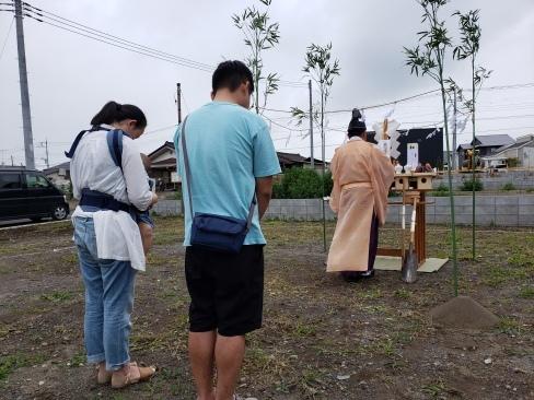 水戸市内で地鎮祭がございました。_a0059217_14245995.jpg