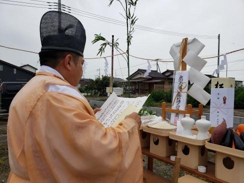 水戸市内で地鎮祭がございました。_a0059217_14251072.jpg