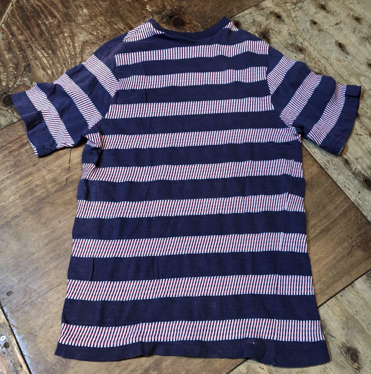 7月20日(土)入荷!70s all cotton  J.C Penny\'s Towncraft ジャガードボーダー Tシャツ! _c0144020_13533083.jpg