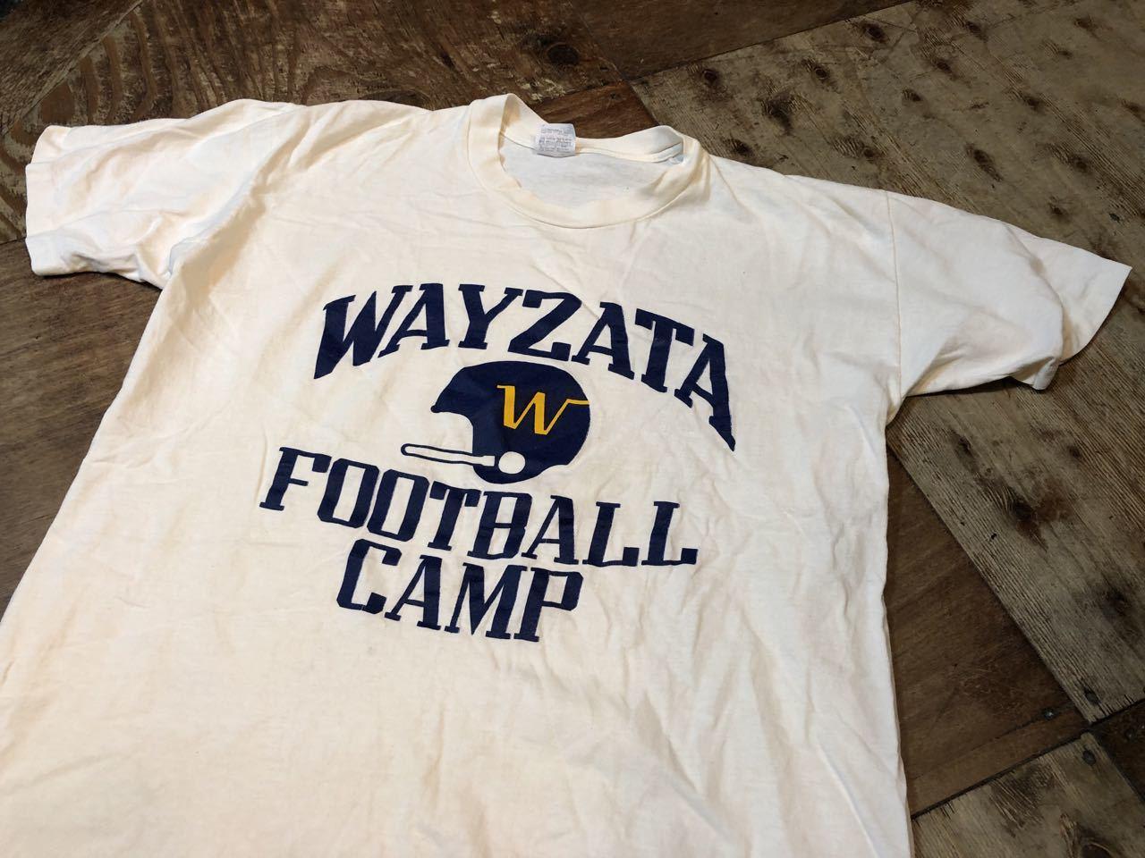 7月20日(土)入荷!80s all cotton カレッジFOOTBALL CAMP Tシャツ STEDMAN_c0144020_13560367.jpg