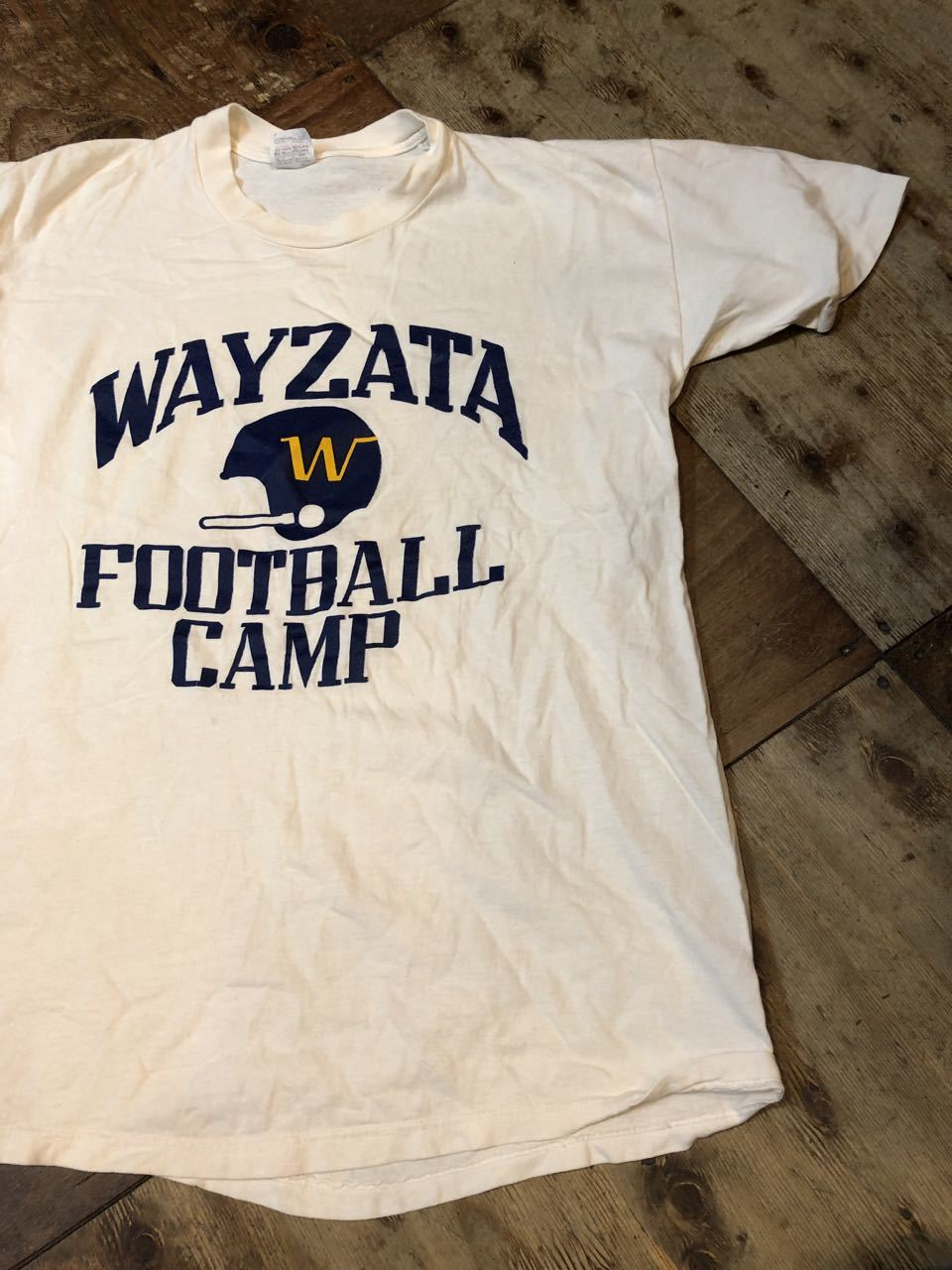 7月20日(土)入荷!80s all cotton カレッジFOOTBALL CAMP Tシャツ STEDMAN_c0144020_13560572.jpg
