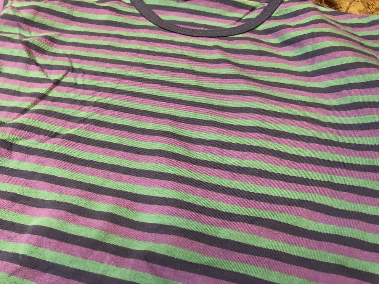 7月20日(土)入荷!80s MADE IN U.S.A all cotton LANDS \' END ボーダーTシャツ! _c0144020_14062131.jpg