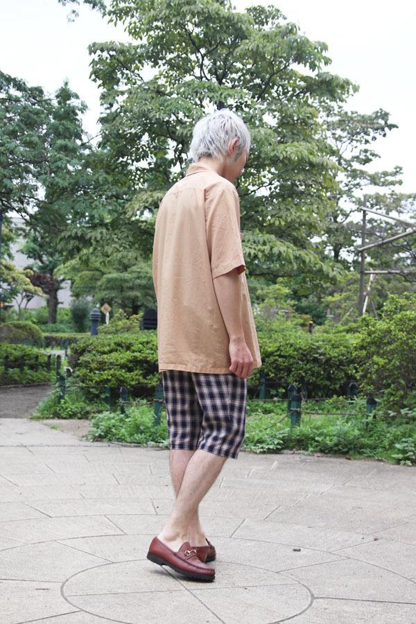 リネン カプリパンツ 先染めチェック Customer's snaps (1468)_e0104046_04435270.jpg