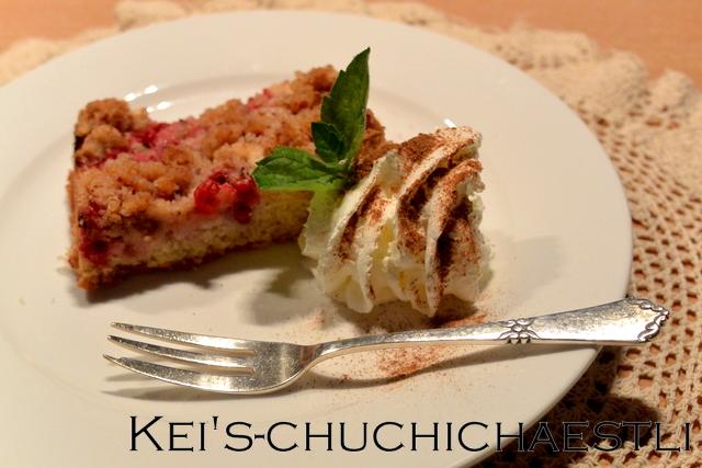 デザートに赤、白スグリのクランブルケーキ_c0287366_2113232.jpg