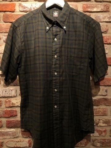 "1960s \"" Mc GREGOR \"" 100% cotton VINTAGE Button/Down S/S CHECK SHIRTS ._d0172088_18094992.jpg"