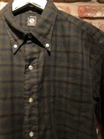"1960s \"" Mc GREGOR \"" 100% cotton VINTAGE Button/Down S/S CHECK SHIRTS ._d0172088_18105999.jpg"