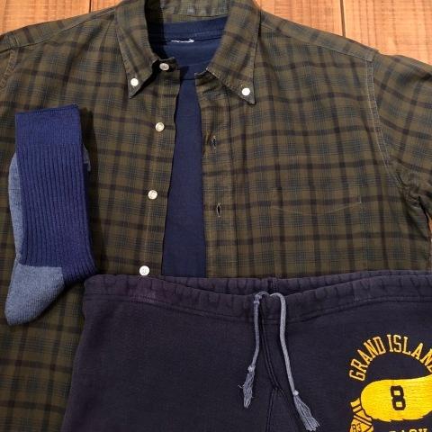 "1960s \"" Mc GREGOR \"" 100% cotton VINTAGE Button/Down S/S CHECK SHIRTS ._d0172088_20153538.jpg"