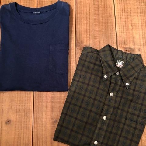 "1960s \"" Mc GREGOR \"" 100% cotton VINTAGE Button/Down S/S CHECK SHIRTS ._d0172088_20163134.jpg"