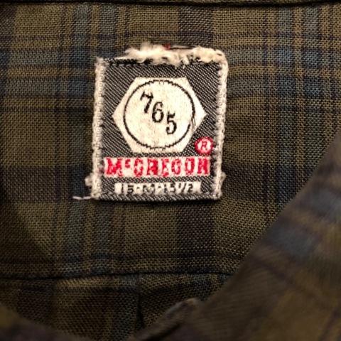 "1960s \"" Mc GREGOR \"" 100% cotton VINTAGE Button/Down S/S CHECK SHIRTS ._d0172088_20193161.jpg"