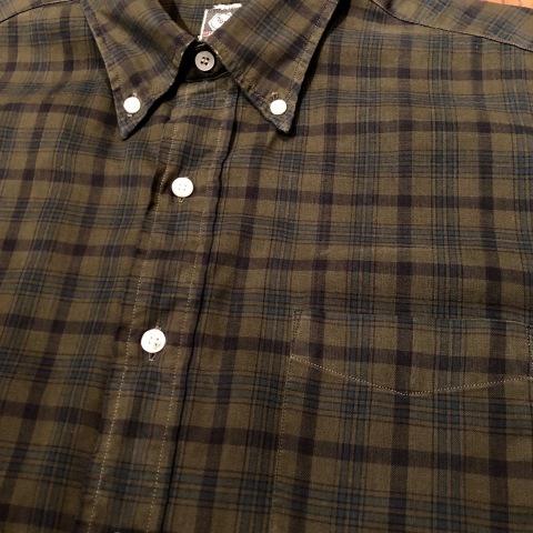 "1960s \"" Mc GREGOR \"" 100% cotton VINTAGE Button/Down S/S CHECK SHIRTS ._d0172088_20200866.jpg"