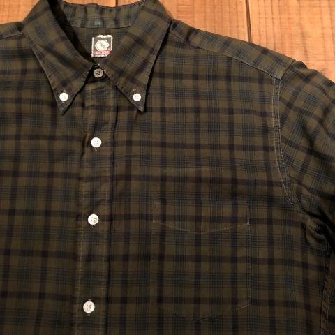 "1960s \"" Mc GREGOR \"" 100% cotton VINTAGE Button/Down S/S CHECK SHIRTS ._d0172088_20204631.jpg"