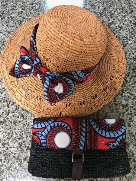 アフリカンバッグ2個目と帽子のリボン_e0397389_11342152.jpeg