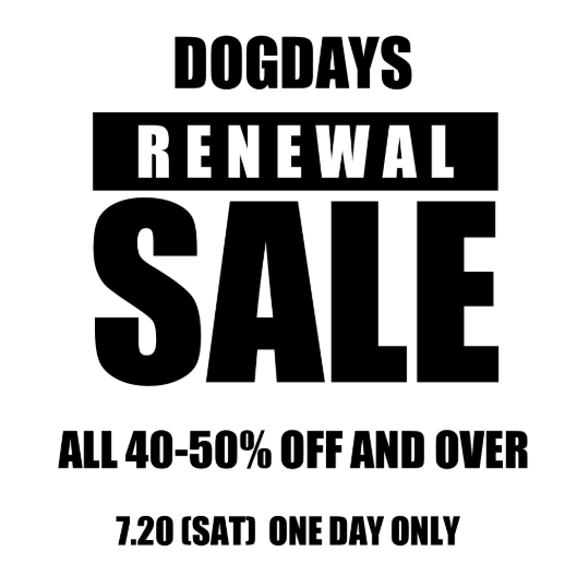 DOGDAYS RENEWAL SALE &  sacai 19AW 2nd Delivery._c0079892_2205124.png